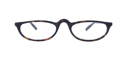 Montblanc - MB0024O Havana Gold/Clear Oval Men Eyeglasses - 53mm