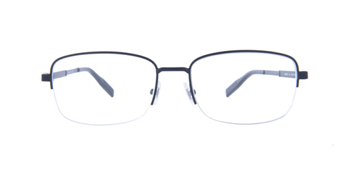 Montblanc - MB0028O Black/Clear Rectangular Men Eyeglasses - 56mm