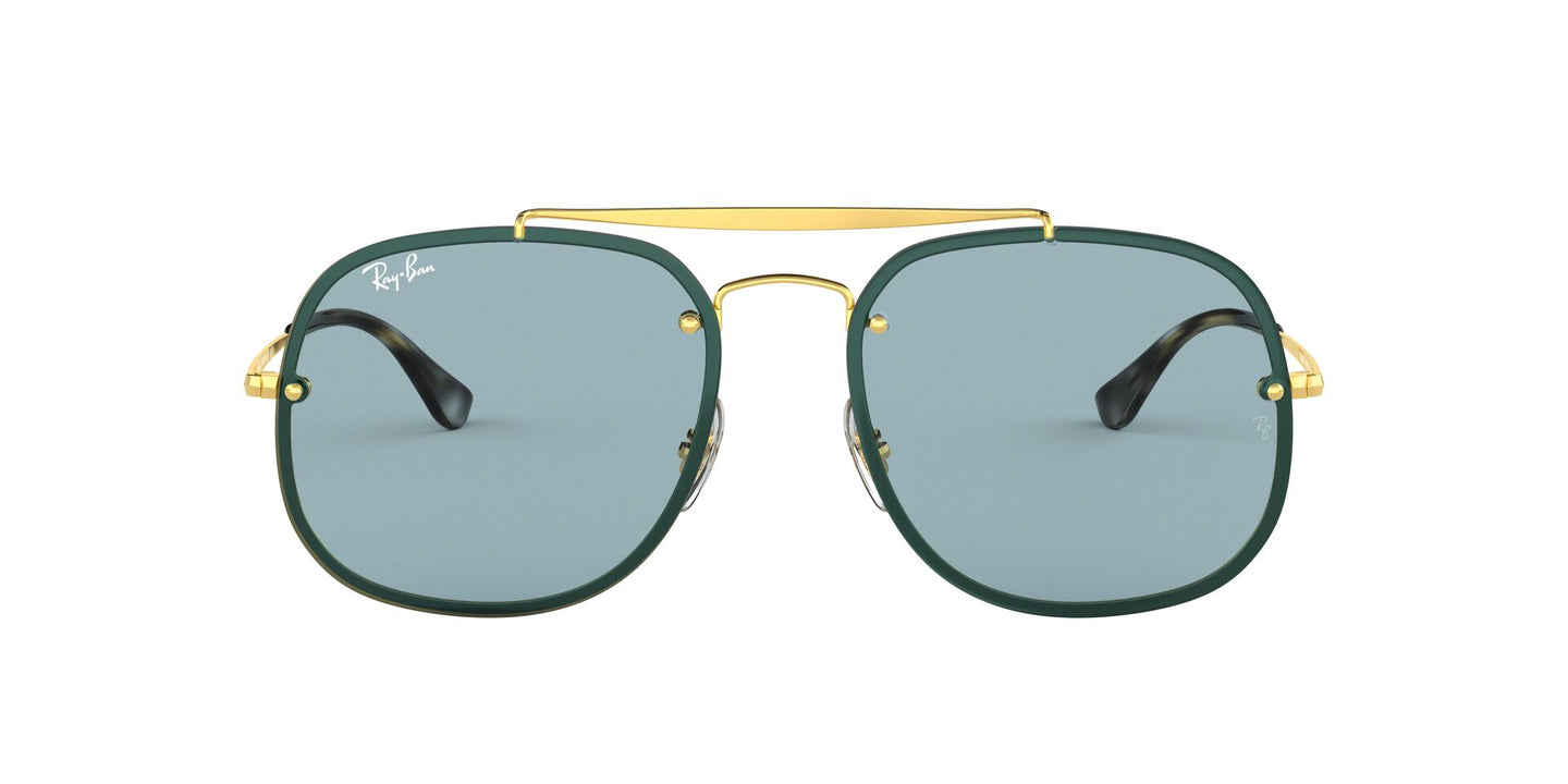 Ray Ban - RB3583N Gold/Blue Aviator Unisex Sunglasses - 58mm