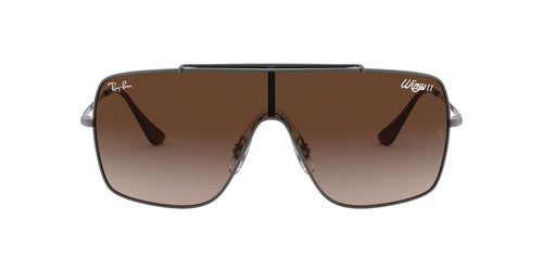 Ray Ban - RB3697 Gunmetal Shield Men Sunglasses - 35mm