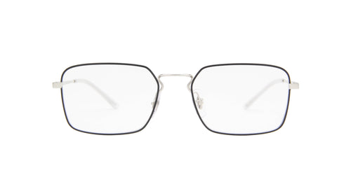 Ray Ban Rx - RX6440 Top Back on Silver/Clear Squared Unisex Eyeglasses - 53mm