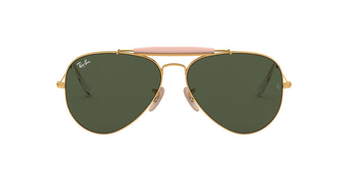 Ray Ban - RB3029 Gold/Green Aviator Men Sunglasses - 62mm