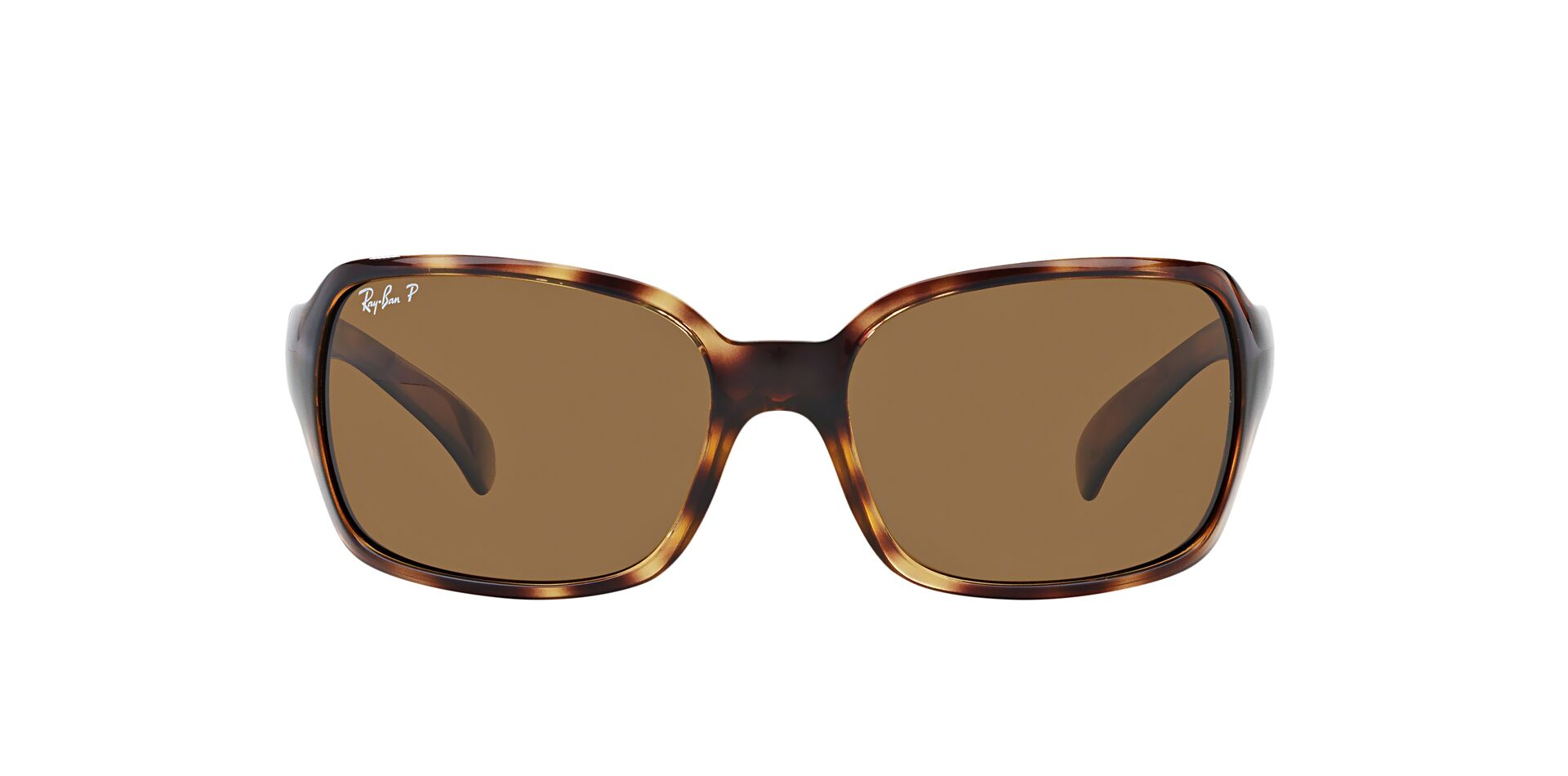 Ray Ban - RB4068 Tortoise/Brown Polarized Rectangular Unisex Sunglasses - 60mm