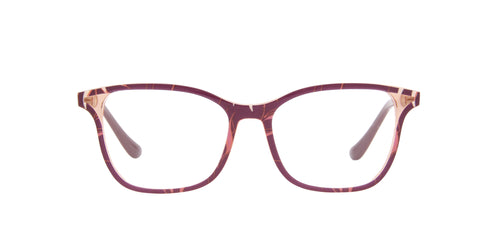 Vogue - VO5256 Top Red text Orange Pink/Clear Rectangular Women Eyeglasses - 53mm