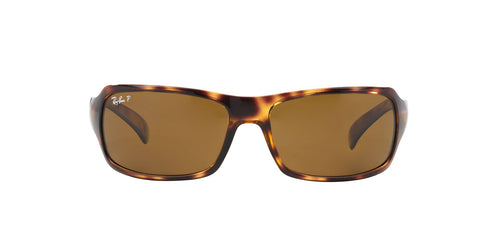 Ray Ban - RB4075 Tortoise/Brown Polarized Rectangular Unisex Sunglasses - 61mm