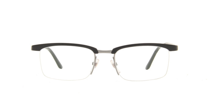 Starck - SH3042 Black/Clear Rectangular Eyeglasses - 52mm