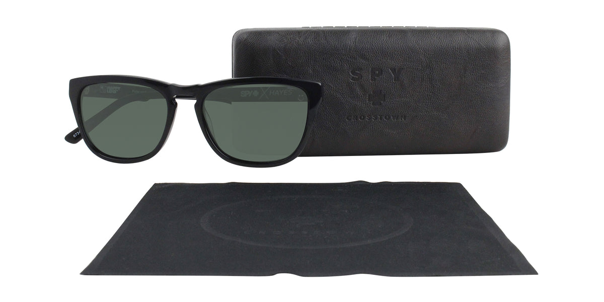 Spy Hayes Black / Green Lens Sunglasses