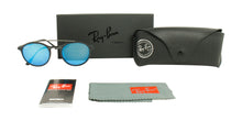 Ray Ban - RB4266 Black/Blue Mirror Oval Unisex Sunglasses - 49mm