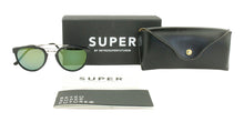 Retrosuperfuture - Giaguaro Black Oval Unisex Sunglasses - 51mm