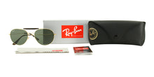 Ray Ban - RB3540 Gold/Green Oval Unisex Sunglasses - 56mm