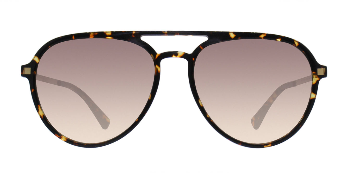 Mykita - Sanuk Tortoise/Brown Gradient Aviator Unisex Sunglasses - 55mm