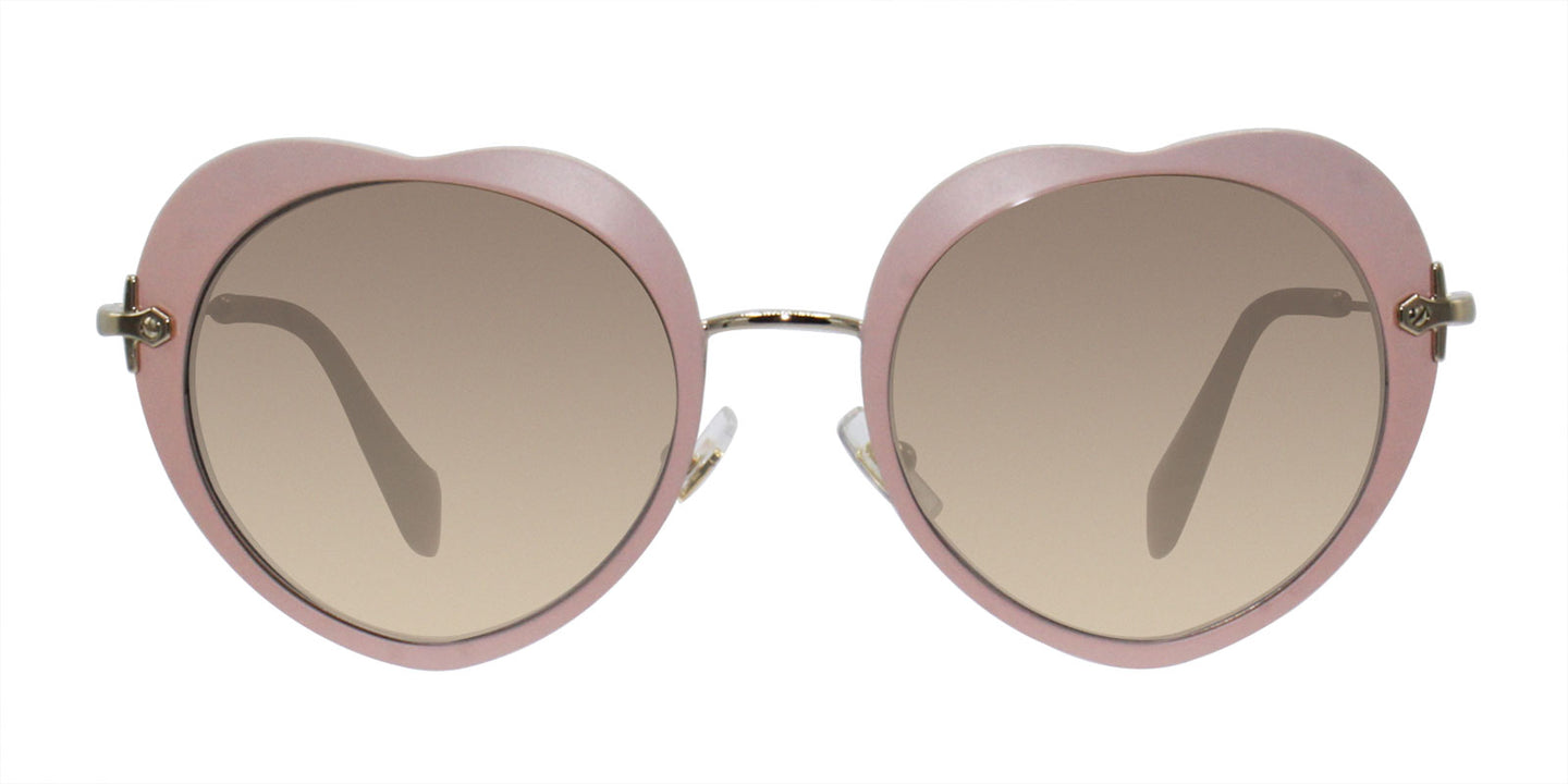Miu Miu - MU54RS Pink/Gray Gradient Oval Women Sunglasses - 52mm