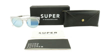 Retrosuperfuture llaria Silver / Blue Lens Mirror Sunglasses