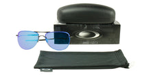 Oakley Tailpin Black / Blue Lens Mirror Polarized Sunglasses
