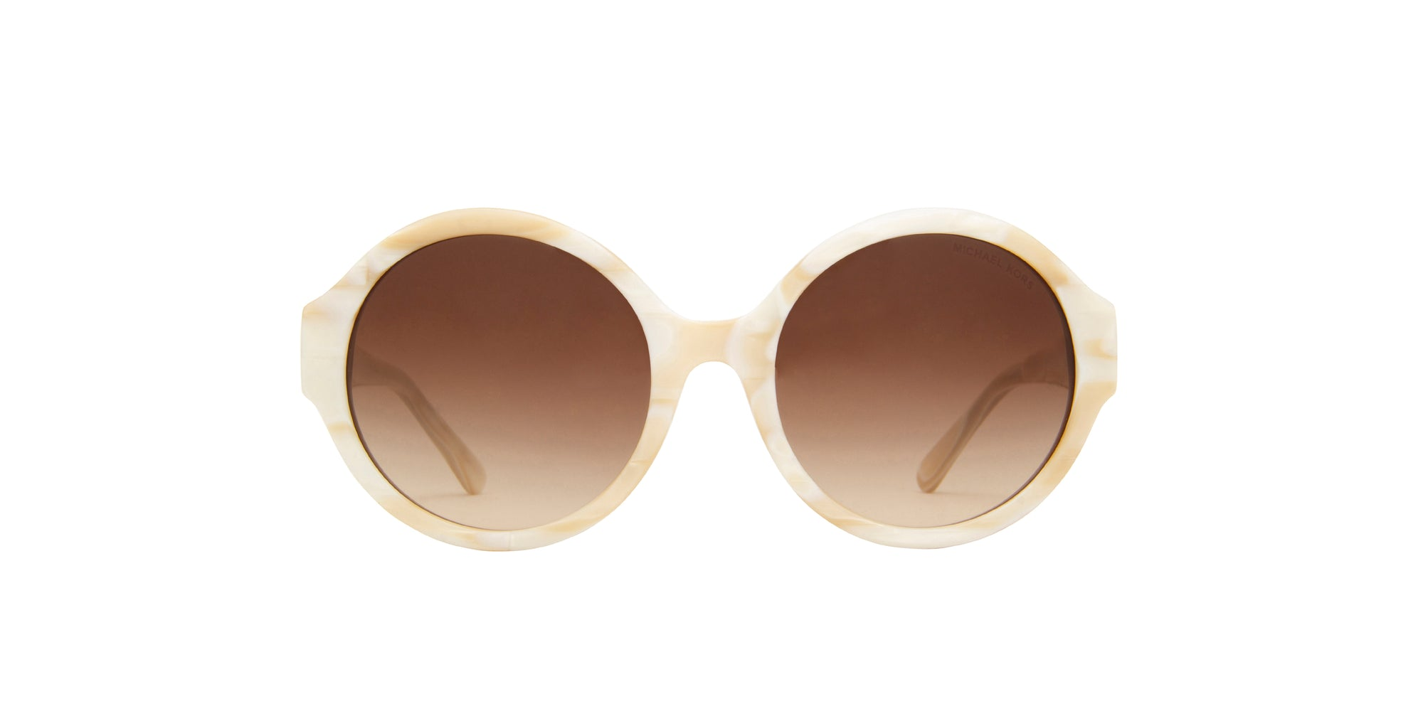 Michael Kors - MK2035 Beige Oval Women Sunglasses - 55mm
