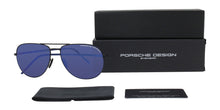 Porsche Design P8629 Black / Blue Lens Mirror Sunglasses