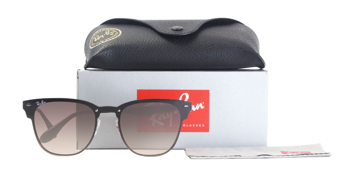 Ray Ban - Blaze Clubmaster Brown/Brown Gradient Oval Unisex Sunglasses - 47mm