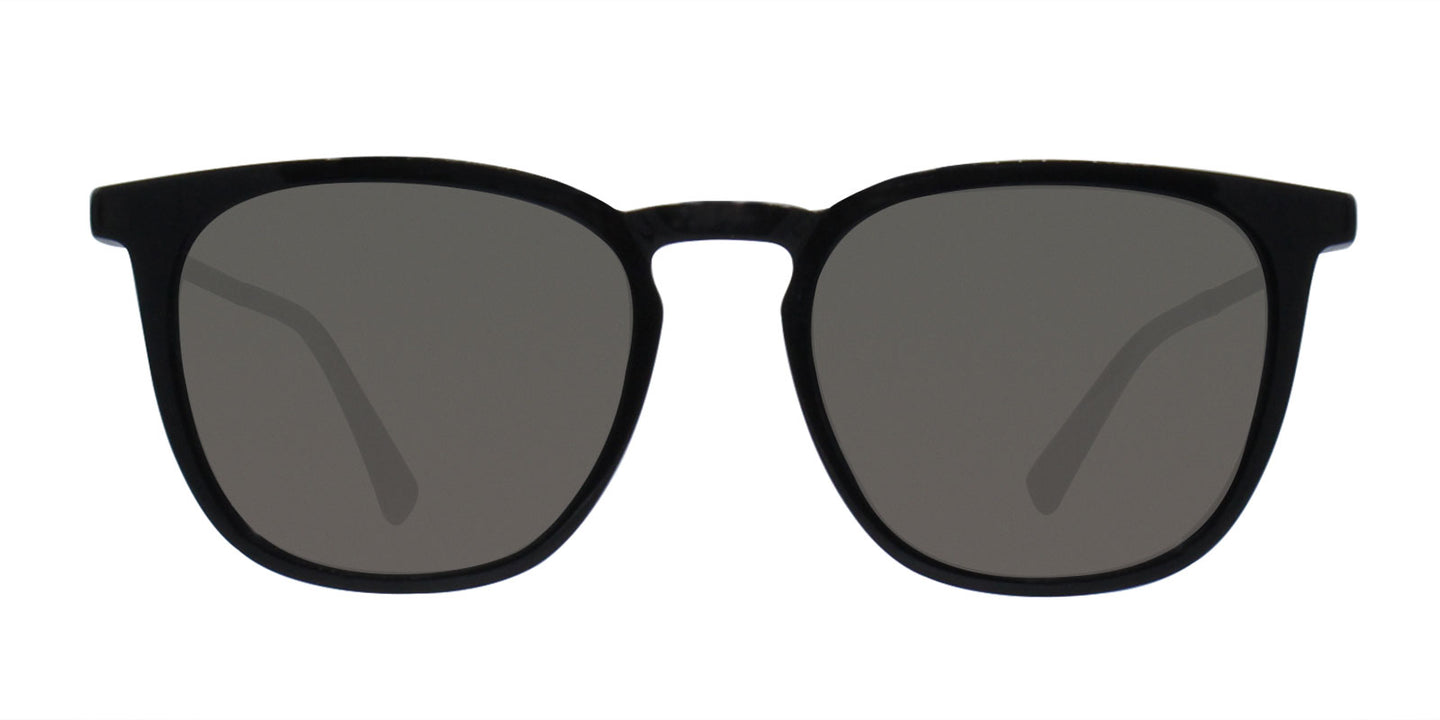 Mykita - Eska Black/Gray Rectangular Unisex Sunglasses - 51mm