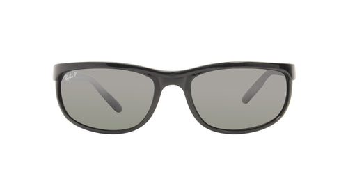 Ray Ban - RB2027 Black/Silver Mirror Wrap Men Sunglasses - 62mm