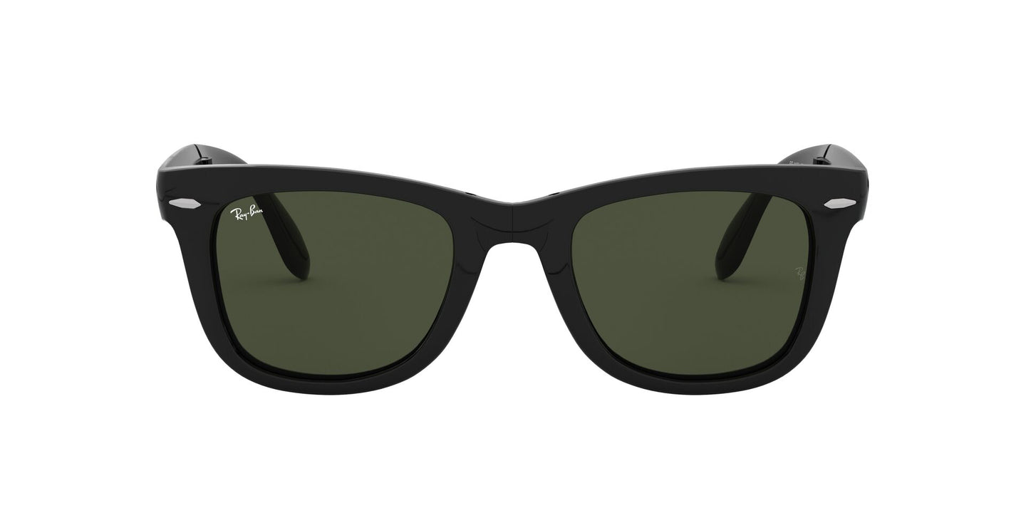 Ray Ban - RB4105 Black Oval Unisex Sunglasses - 50mm