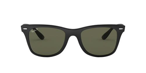 Ray Ban - RB4195 Black Rectangular Men Sunglasses - 52mm