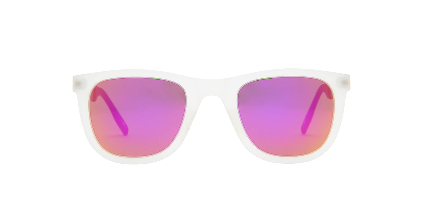 Technomarine - Dimitri Reef RT White/Pink Mirror Rectangular Unisex Sunglasses - 51mm