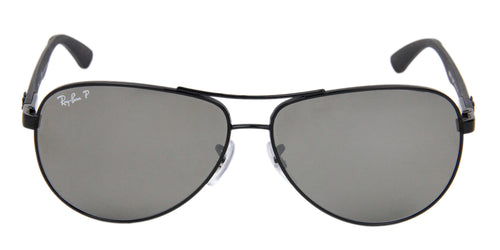 Ray Ban - RB8313 Black/Gray Mirror Polarized Aviator Men Sunglasses - 61mm