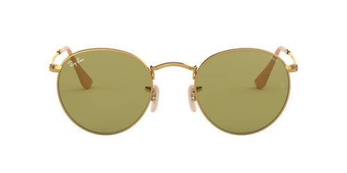 Ray Ban - Round Metal Gold/Green Phantos Women Sunglasses - 50mm