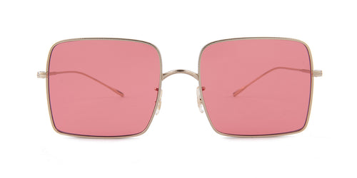 Oliver Peoples Rassine Silver / Pink Lens Sunglasses