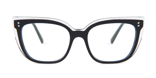 Valentino - VA3021 Black Square Women Eyeglasses - 53mm