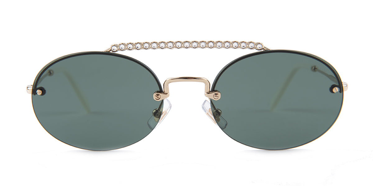 Miu Miu - SMU60T Silver Rimless Women Sunglasses - 54mm