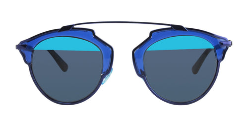 Dior - SoReal Blue Oval Women Sunglasses - 48mm
