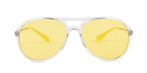 Ray Ban - Alex Clear/Yellow Aviator Unisex Sunglasses - 59mm
