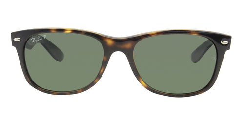 Ray Ban - New Wayfarer Tortoise/Green Polarized Unisex Sunglasses - 55mm