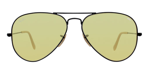 Ray Ban - Aviator Black/Yellow Unisex Sunglasses - 58mm