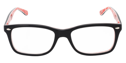 Ray Ban Rx - RX5228 Black Rectangular Men, Women Eyeglasses - 53mm