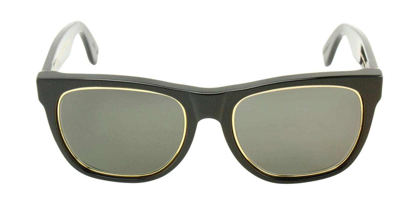 Retrosuperfuture - Classic Impero Black Rectangular Unisex Sunglasses - 55mm