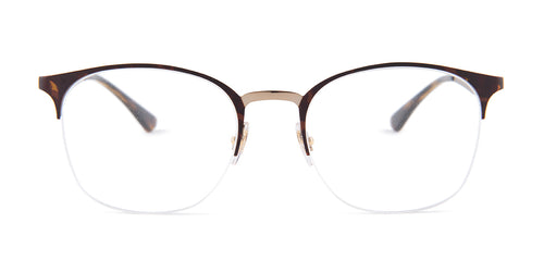 Ray Ban Rx - RX6422 Havana Square Women Eyeglasses - 51mm