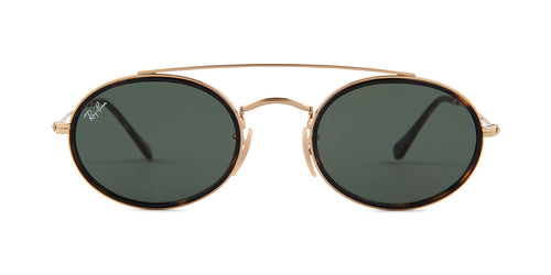 Ray Ban - RB3487N Gold Oval Unisex Sunglasses - 52mm