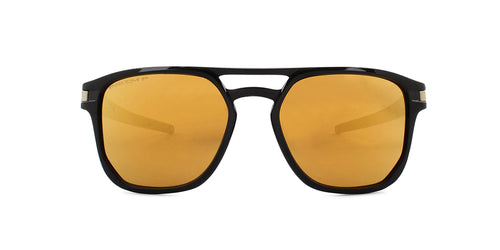 Oakley Latch Beta Black / Yellow Lens Mirror Polarized Sunglasses