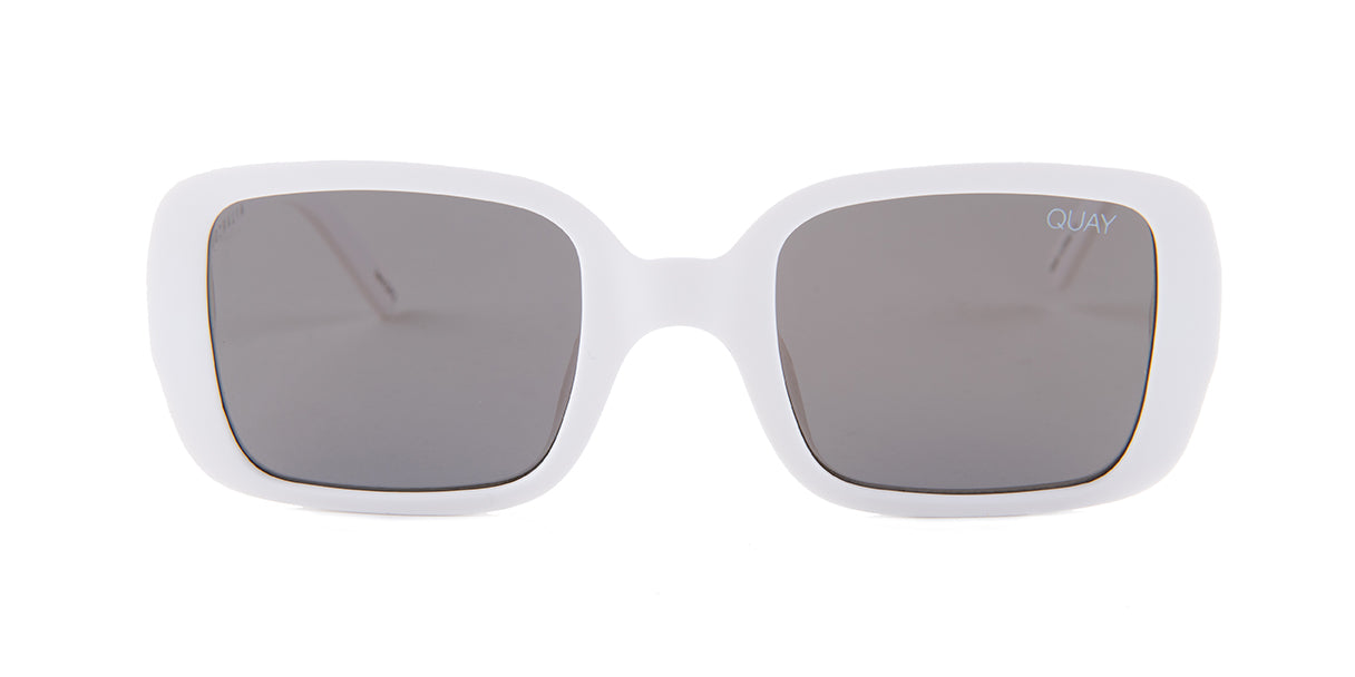 Quay Australia 20's White / Gold Lens Mirror Sunglasses