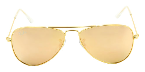 Ray Ban Jr - RJ9506S Gold Aviator Unisex Sunglasses - 50mm