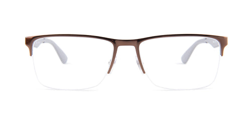 Ray-Ban Rx RX6335 Brown / Clear Lens Eyeglasses
