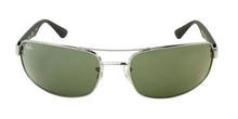 Ray Ban - RB3445 Gray/Green Rectangular Unisex Sunglasses - 61mm