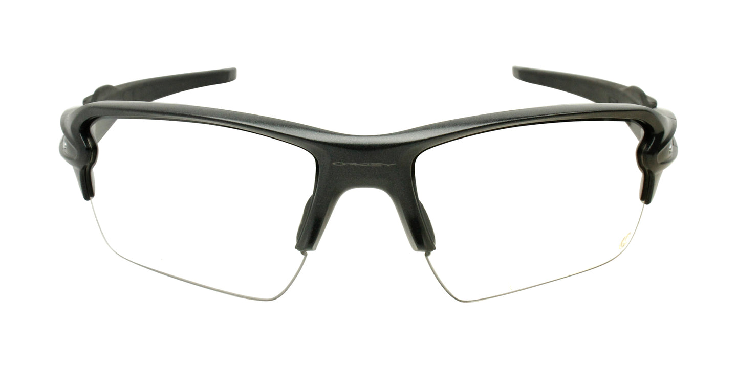 Oakley - Flak 2.0 XL Gray/Clear Semi-Rimless Men Eyeglasses - 59mm