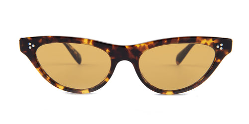 Oliver Peoples Zasia Tortoise / Brown Lens Sunglasses