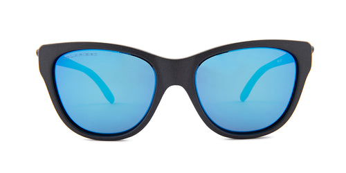 Oakley - Hold Out Black/Blue Square Unisex Polarized Sunglasses - 55mm