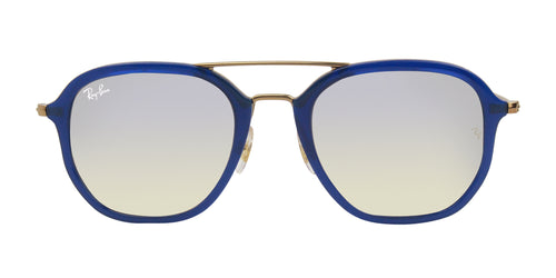 RAY BAN UNISEX RB4273 BLUE / SILVER LENS SUNGLASSES