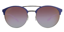 Ray Ban - RB3545 Blue/Purple Mirror Oval Unisex Sunglasses - 54mm