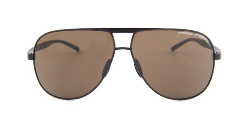 dff438bcf95d Porsche Design P8657 Black   Brown Lens Sunglasses